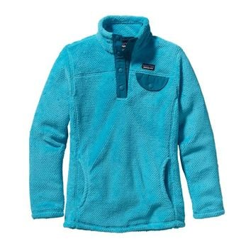 Patagonia Girls' Re-Tool Snap-T® Fleece Pullover | Ultramarine - Electron Blue X-Dye