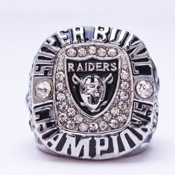 """SPORTS RING * OAKLAND """"RAIDERS"""" WORLD * CHAMPS XI XV XVIII /...fast delivery!"""