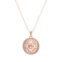 Rose Gold & Crystal Filigree Swirl Pendant Necklace | zulily