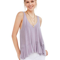 V-Neck Ruffled Tank