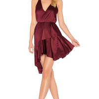 Acler Richie Silk Dress in Plum