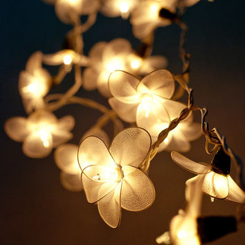 20 Garland flower Light White Flower String Lights for Bedroom Living Room Patio indoor Christmas Decorative String Fairy Lights