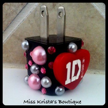 One direction iPhone 4 case Wall Charger Cute pearl USB ipod charger