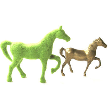 Black Friday Sale - Needle Felted Animals - Horse Felted Sculpture -Plain Color Horse - 300 Wool Colors - Contemporary Horse - Felt Horse
