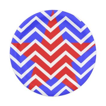 Chevron Red Star w/Blue and White Chevron Lines Paper Plate  sc 1 st  Wanelo & Best Blue And White Paper Plates Products on Wanelo