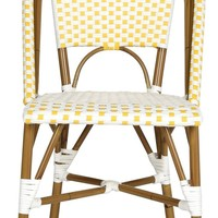 Salcha Indoor-Outdoor Stacking Side Chair (Set Of 2) Yellow&White