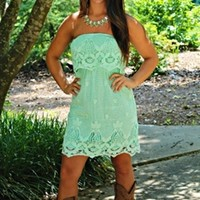You Look So Good In Lace Dress Mint