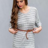 Smooth Sailing Tunic in Grey