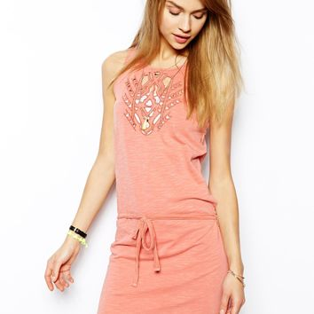 Maison Scotch Cutwork Detail Jersey Dress -