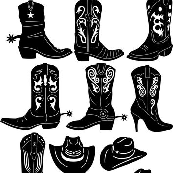 Western Cowboy Boots and Hats