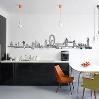 London Skyline Vinyl Wall Sticker