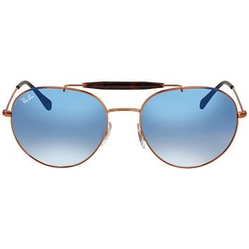 Ray Ban Light Blue Degraded Round Sunglasses RB3540 90353F 56