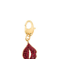 Kate Spade Lips Charm Red ONE