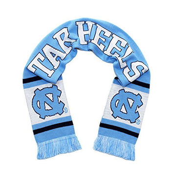 North Carolina Tar Heels Scarf - UNC University of North Carolina Classic Knitted