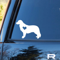 Golden Retriever Heart Decal | Retriever Mom Decal | Dog Mom Decal | Dog Dad Decal | Dog Family Decal | Love Sticker | Love Decal  | 199