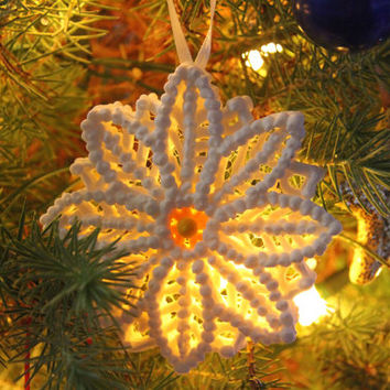 Magic of Christmas Ornament Unique Handmade Snowflake Flower Sugar Fun Decoration Weddings Cake Topper Winter Frozen Disney Inspired