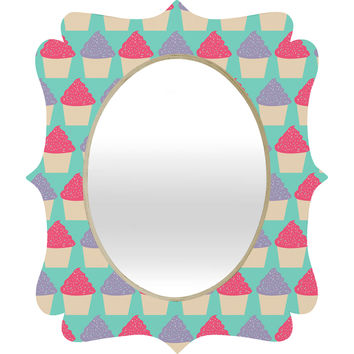 Allyson Johnson Cutest Cupcakes Quatrefoil Mirror