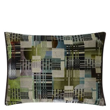 Designers Guild Chandigarh Aqua Decorative Pillow