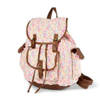 Floral Print Backpack | Claire's