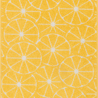 """Tilley Yellow / Ivory 2'5"""" X 3'9"""" Hearth Rug"""