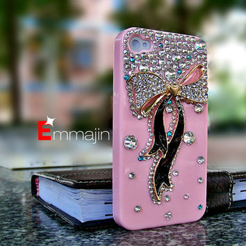 Bling  iphone 4 cases,Pink  iPhone 4 cases  iPhone 4s case,  varabow diamond iphone 4 cases ,bling iphone 4 case,HTC case