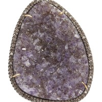 NATIVE JEWELS druzy stone diamond ring