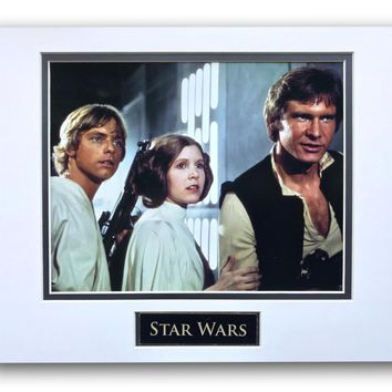 STAR WARS LEIA SOLO LUKE MATTED LICENSED 8X10 PHOTO FOR FRAME 11X14 NEW HOPE