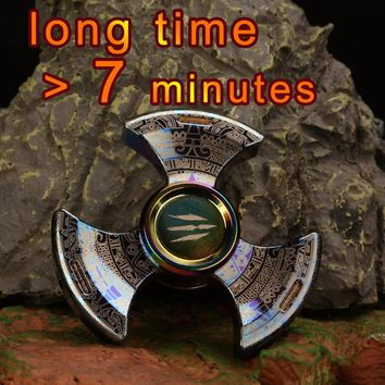 Special Fidget Spinners Metal Adult Tri Hand Spinner Gyro Spinning Top Stress Relief EDC Beyblade Finger Toys For Children Kids