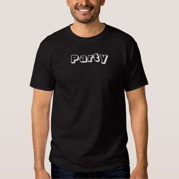 Party White Lettering Dark Men's Custom Tee Shirt
