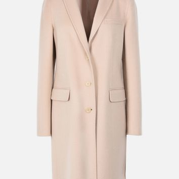 CASHMERE DOUBLE CLOTH COAT WITH CLASSIC LAPELS for Women | Emporio Armani