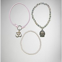 Pink Buddha Bracelet 3 Pack - Spencer's