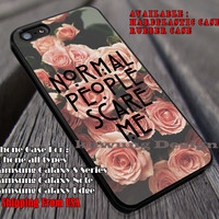 Normal People Scare Me iPhone 6s 6 6s+ 6plus Cases Samsung Galaxy s5 s6 Edge+ NOTE 5 4 3 #movie #AmericanHororStory ii