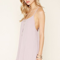 Crochet-Back Cami Mini Dress | Forever 21 - 2000178132