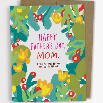 Father's Day, Mom Card