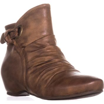 BareTraps Salie Hidden Wedge Ankle Boots, Whiskey, 10 US