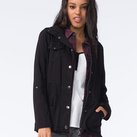 Full Tilt Rayon Womens Anorak Jacket Black  In Sizes