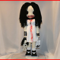 OOAK Hand Stitched Bloody Art Doll Creepy Gothic by TatteredRags