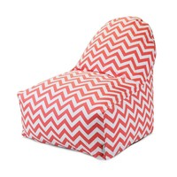 Printed Kick-It Chair - Chevron - Coral