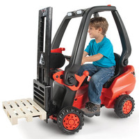 The Working Pedal Powered Forklift - Hammacher Schlemmer