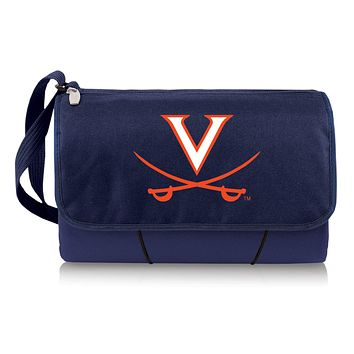 Virginia Cavaliers 'Blanket Tote' Outdoor Picnic Blanket-Navy Digital Print