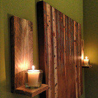 Wooden Candle Holder Set- Reclaimed pallet wood