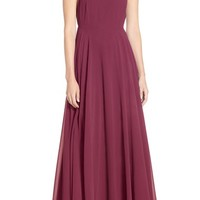 Lulu's Square Neck Halter Gown | Nordstrom