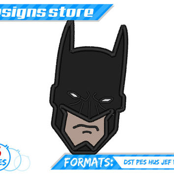 Batman Face Applique Embroidery Design