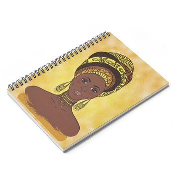 Sunflower African Queen Spiral Notebook - Ruled Line