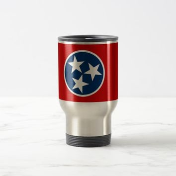 Travel Mug with Flag of Tennessee State - USA