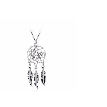 n475 Bohemian Boho Indian style feather pendant Dream Catcher Dreamcatcher jewelry for women