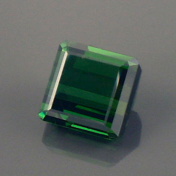 Tourmaline: 6.46ct Green Square Shape Gemstone, Natural Hand Made Faceted Gem, Loose Precious Mineral, OOAK Cut Crystal Jewelry Supply 20200