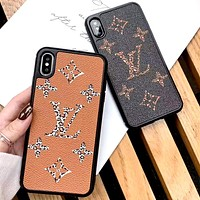 LV tide brand personality wild iphoneX mobile phone case cover