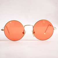 Vintage Sunglasses Planet mod. 21004 John Lennon Style Hippie Teashades. Made in Italy