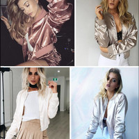 The most popular winter wild thin short paragraph baseball uniform jacket women jacket street shooting jacket